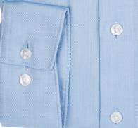OLYMP vasalásmentes férfi ing karcsúsított világoskék anyagában csíkos - mandzsetta