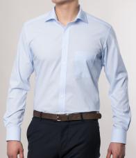 eterna vasalásmentes karcsúsított férfi ing világoskék - modell