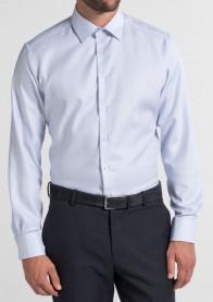 eterna vasalásmentes karcsúsított férfi ing világoskék anyagában mintás - modell