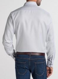 eterna vasalásmentes karcsúsított férfi ing szürke anyagában mintás - hát