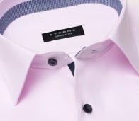 eterna vasalásmentes férfi ing rózsaszín anyagában mintás - gallér