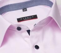 eterna vasalásmentes karcsúsított férfi ing rózsaszín anyagában mintás - gallér