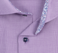 eterna vasalásmentes karcsúsított férfi ing lila anyagában mintás - gallér