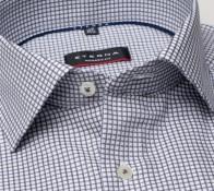 eterna vasalásmentes karcsúsított férfi ing szürke kockás - gallér