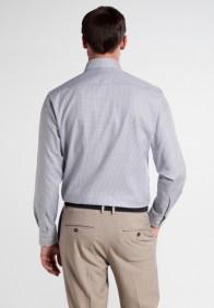eterna vasalásmentes karcsúsított férfi ing szürke kockás - hát