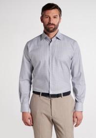 eterna vasalásmentes karcsúsított férfi ing szürke kockás - modell