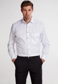eterna vasalásmentes férfi ing fehér anyagában mintás - modell
