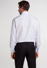 eterna vasalásmentes férfi ing fehér anyagában mintás - hát
