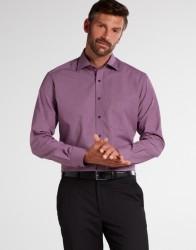 eterna vasalásmentes karcsúsított férfi ing bordós lila mintás - modell