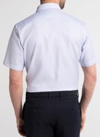 eterna vasalásmentes karcsúsított férfi ing kék anyagában mintás rövid ujjú - modell hát