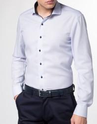 eterna vasalásmentes duplán karcsúsított férfi ing eterna vasalásmentes duplán karcsúsított férfi ing kék anyagában mintás - modell