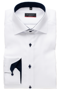 eterna vasalásmentes karcsúsított férfi ing fehér