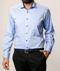 eterna vasalásmentes férfi ing kék - modell