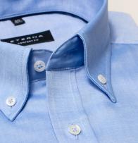 eterna vasalásmentes férfi ing kék - gallér