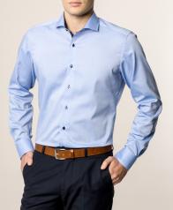 eterna vasalásmentes duplán karcsúsított férfi ing kék - modell