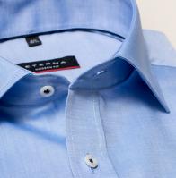 eterna vasalásmentes karcsúsított férfi ing kék - gallér