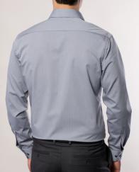 eterna vasalásmentes karcsúsított férfi ing szürke - modell hát