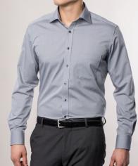 eterna vasalásmentes karcsúsított férfi ing szürke - modell