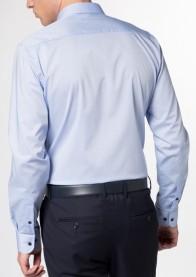 eterna vasalásmentes duplán karcsúsított férfi ing világoskék - hát