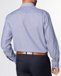 eterna vasalásmentes férfi ing sötétkék csíkos - modell hát