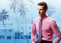 OLYMP rózsaszín mintás ing
