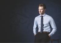 OLYMP kék halszálkás ing