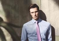 OLYMP rózsaszín-kék kockás ing