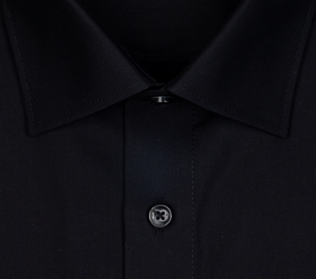 OLYMP vasalásmentes férfi ing fekete - gallér