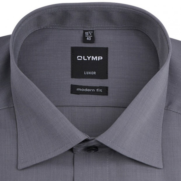 OLYMP vasalásmentes férfi ing karcsúsított szürke - gallér