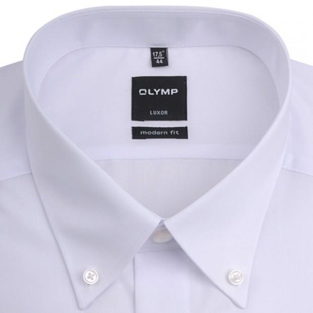 OLYMP vasalásmentes férfi ing karcsúsított fehér - legombolt gallér