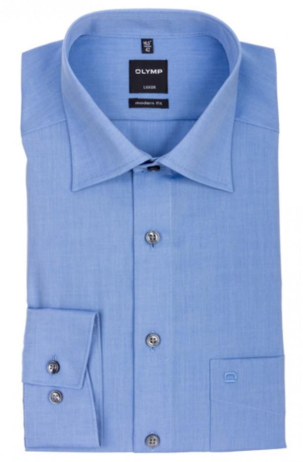 OLYMP vasalásmentes férfi ing karcsúsított kék hosszított ujjú