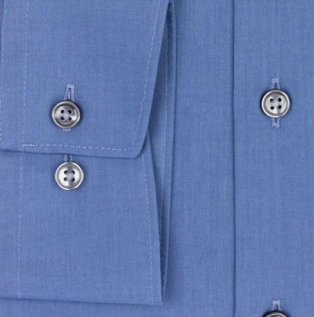 OLYMP vasalásmentes férfi ing karcsúsított kék - mandzsetta