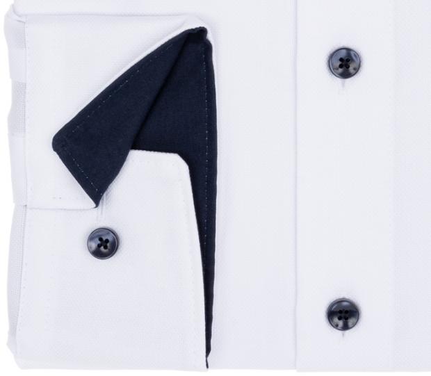 OLYMP vasalásmentes férfi ing karcsúsított fehér mintás - mandzsetta