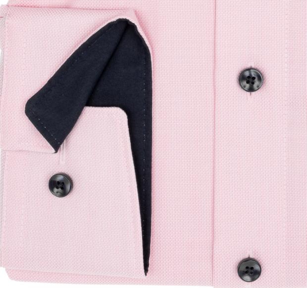 OLYMP vasalásmentes férfi ing karcsúsított rózsaszín mintás - mandzsetta