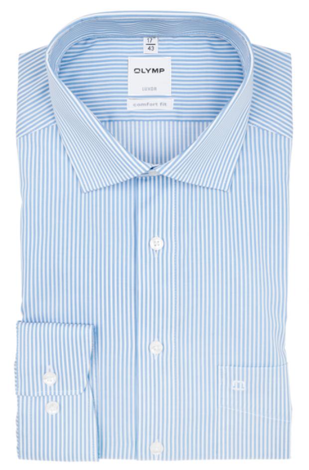 OLYMP vasalásmentes férfi ing kék csíkos