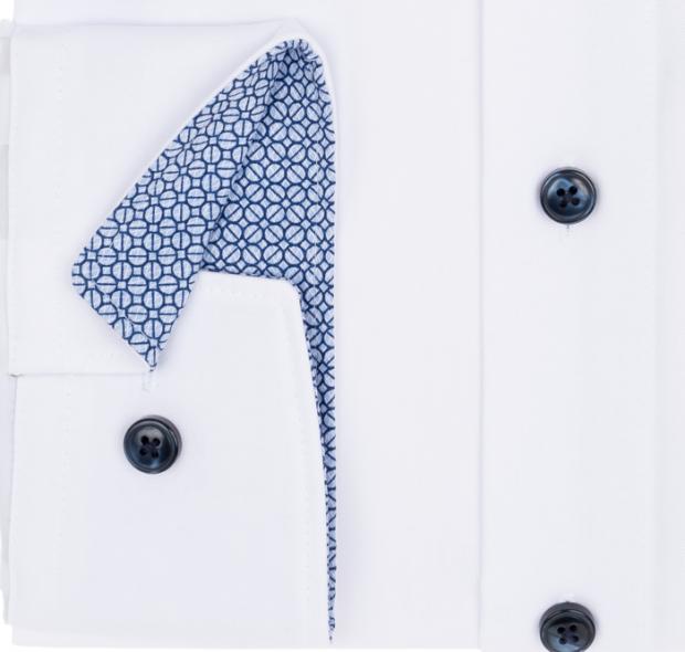 OLYMP vasalásmentes férfi ing karcsúsított fehér hosszított ujjú - mandzsetta