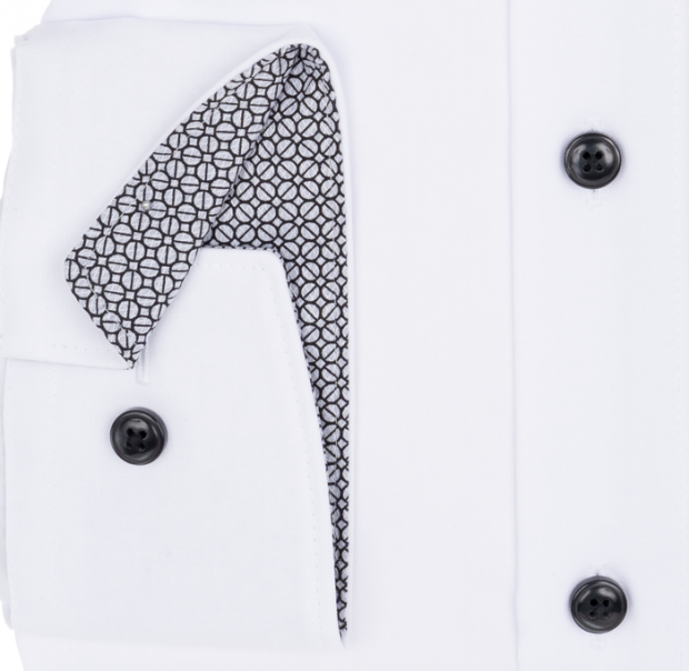 OLYMP vasalásmentes férfi ing karcsúsított fehér - mandzsetta