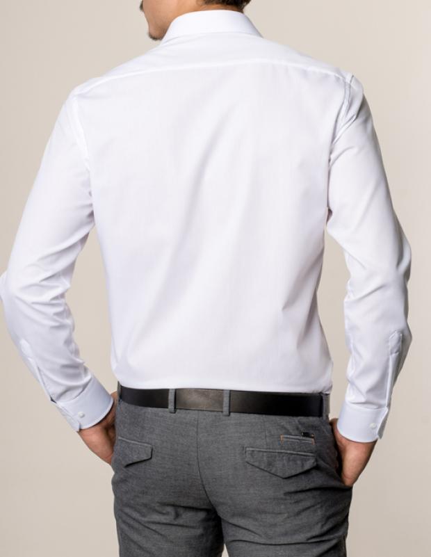 eterna vasalásmentes karcsúsított férfi ing fehér hosszított ujjú - modell hát