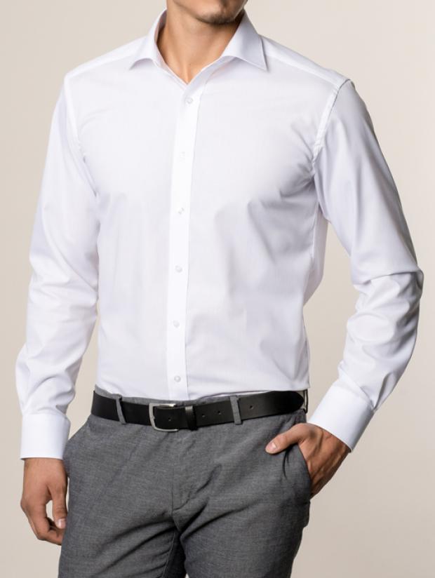 eterna vasalásmentes karcsúsított férfi ing fehér hosszított ujjú - modell