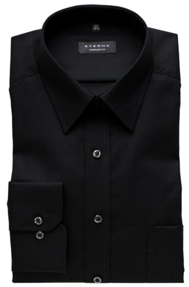 eterna vasalásmentes férfi ing fekete