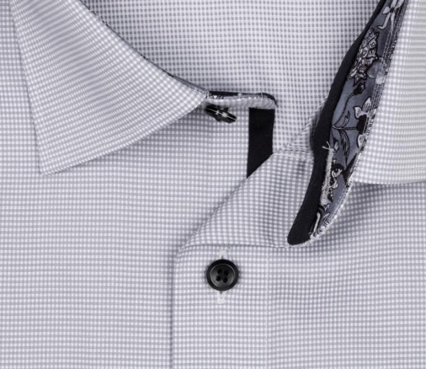 OLYMP vasalásmentes férfi ing szürke apró mintás - gallér