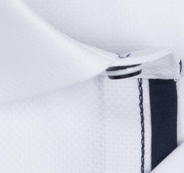 OLYMP vasalásmentes férfi ing fehér anyagában mintás - anyag