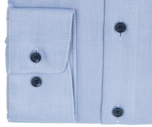 OLYMP vasalásmentes férfi ing világoskék anyagában mintás - mandzsetta