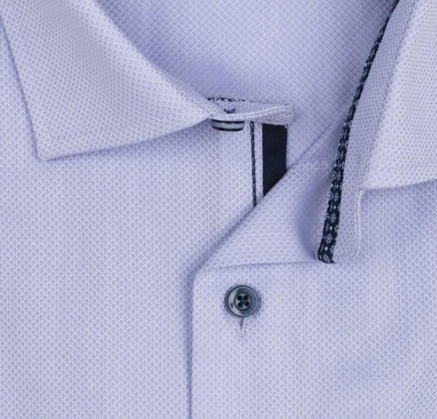 OLYMP vasalásmentes férfi ing karcsúsított orgonalila anyagában mintás - gallér