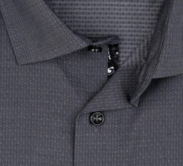 OLYMP vasalásmentes férfi ing sötétszürke mintás - gallér