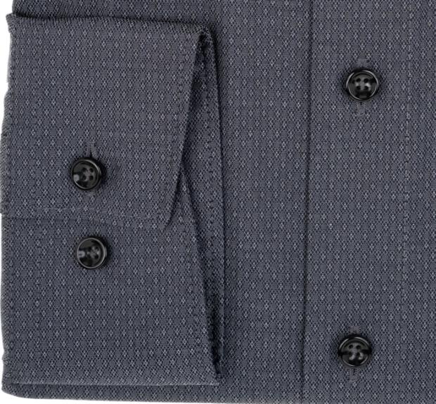 OLYMP vasalásmentes férfi ing karcsúsított sötétszürke mintás - mandzsetta