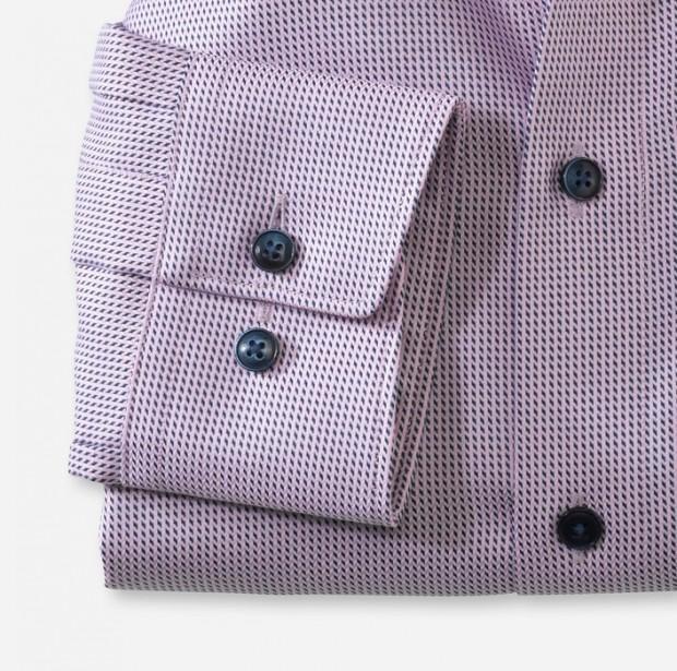 OLYMP vasalásmentes férfi ing rózsaszín-sötétkék mintás - msndzsetta