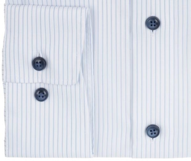 OLYMP vasalásmentes férfi ing karcsúsított világoskék csíkos - mandzsetta