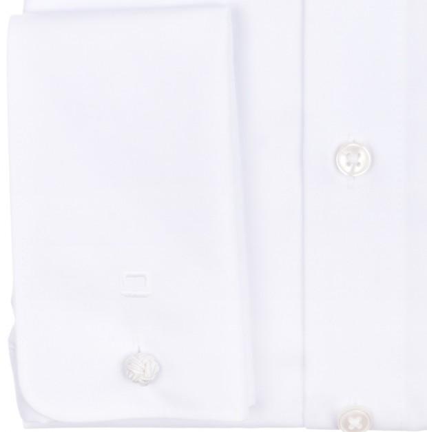 OLYMP vasalásmentes férfi ing karcsúsított fehér - dupla mandzsetta