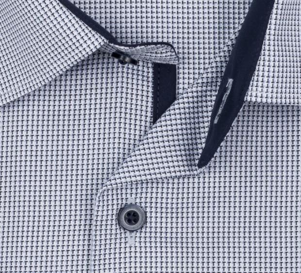 eterna vasalásmentes férfi ing fekete-kék mintás - gallér